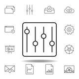 значок плана настройки конфигурации регулировки Детальный набор значков иллюстраций мультимедиа unigrid Смогите быть использовано бесплатная иллюстрация