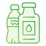 Значок пластикового запрета бутылки плоский Значки пластикового запр бесплатная иллюстрация