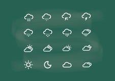Значок, погода значка, вектор чертежа значка на меле классн классного Стоковое фото RF