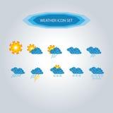 Значок погоды установил 1 Стоковое Изображение RF