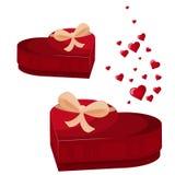 Значок ПОДАРОЧНОЙ КОРОБКИ СЕРДЦА Плоская иллюстрация значка вектора подарочной коробки сердца для веб-дизайна стоковые изображения rf