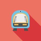 Значок поезда скорости плоский с длинной тенью Стоковые Фото