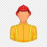Значок пожарных в стиле шаржа бесплатная иллюстрация