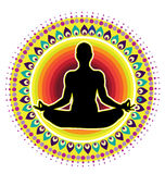 Значок позиции лотоса йоги Стоковое Изображение