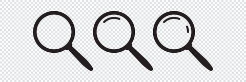 Значок поиска Значок лупы, увеличитель вектора или знак loupe бесплатная иллюстрация