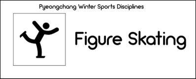 Значок показывая дисциплина фигурного катания игр спорт зимы бесплатная иллюстрация