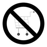 Значок покупок запрета иллюстрация штока