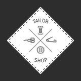 Значок портноя, эмблема Стоковые Фотографии RF