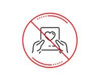 Значок почты дня валентинок Символ любовного письма вектор иллюстрация штока