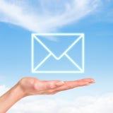 Значок почты конверта Стоковое Фото