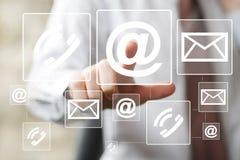Значок почты послания кнопки дела посылая сеть Стоковые Фотографии RF