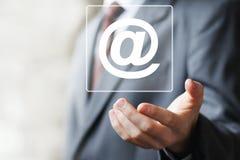 Значок почты сообщения сети кнопки дела посылая знак Стоковое Изображение