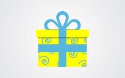 Значок подарочной коробки вектора Стоковое Изображение