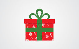 Значок подарочной коробки вектора Иллюстрация штока