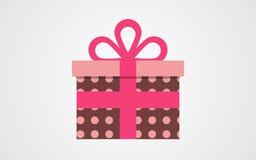 Значок подарочной коробки вектора иллюстрация вектора