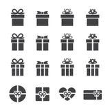 Значок подарочной коробки Стоковая Фотография