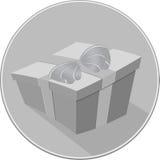 Значок подарочной коробки Стоковое Изображение
