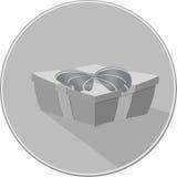 Значок подарочной коробки Стоковая Фотография RF