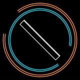 Значок правителя Плоская изолированная иллюстрация правила иллюстрация штока