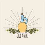 Значок предпосылки органический иллюстрация штока