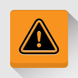Значок предупредительного знака большой для любых использует желтый цвет обоев вектора уравновешивания rac померанцовой картины ц Стоковое Фото