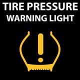 Значок предупредительного светового сигнала кода давления автошины DTC Пиктограмма автомобиля от приборной панели - низкого давле Стоковое Изображение RF