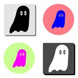Значок призрака хеллоуина плоский бесплатная иллюстрация