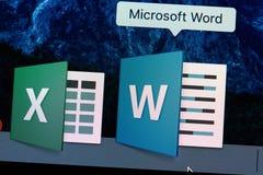 Значок применения Microsoft Word Стоковое фото RF