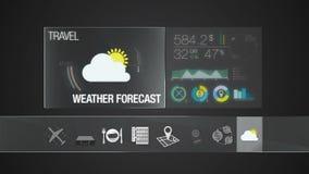 Значок прогноза Wather для содержания перемещения Применение цифрового дисплея бесплатная иллюстрация
