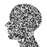 Значок профиля Pixeated Стоковое фото RF