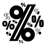 Значок процента, простой стиль иллюстрация штока