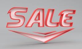 значок продажи 3d Стоковые Фото