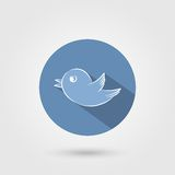 Значок птицы с тенью Стоковые Изображения RF