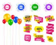 Значок пузыря речи продажи Спасибо символ вектор иллюстрация вектора