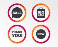 Значок пузыря речи продажи Спасибо символ бесплатная иллюстрация
