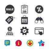 Значок пузыря речи продажи Символ звезды скидки Стоковые Фотографии RF