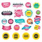 Значок пузыря речи продажи Спасибо символ Стоковые Фотографии RF