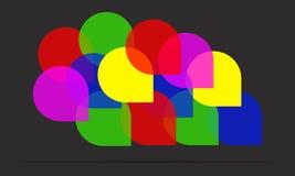 Значок пузыря речи Стоковое фото RF