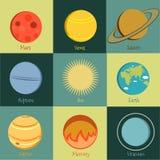 Значок 2 планет Стоковые Фото