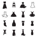 Значок платья Иллюстрация вектора