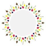 Значок плодоовощ, круг, вектор Стоковая Фотография RF