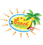 Значок пляжа Стоковая Фотография