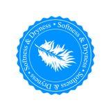 Значок размягченности и засохлости Белое перо на голубой предпосылке Стоковое Изображение