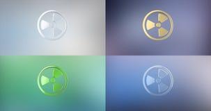 Значок радиации 3d иллюстрация штока