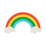Значок радуги в плоском дизайне стиля Символ дня St. Patrick Ирландского