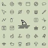 Значок ребра акулы Детальный комплект minimalistic линии значков Наградной графический дизайн Один из значков собрания для вебсай иллюстрация штока
