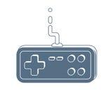 Значок регулятора Gamepad иллюстрация вектора