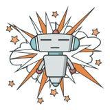 Значок робота вектора плоский стоковые изображения rf