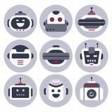 Значок робота Робототехническое изолированные воплощение chatbot, роботы средства помощи болтовни компьютера и виртуальные ассист бесплатная иллюстрация
