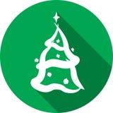 Значок рождественской елки Стоковое Фото
